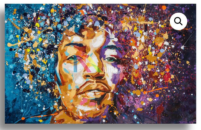 Jimi Hendrix By Nitra-Art - Print on Plexi (/25)  - 160 x 100 cm