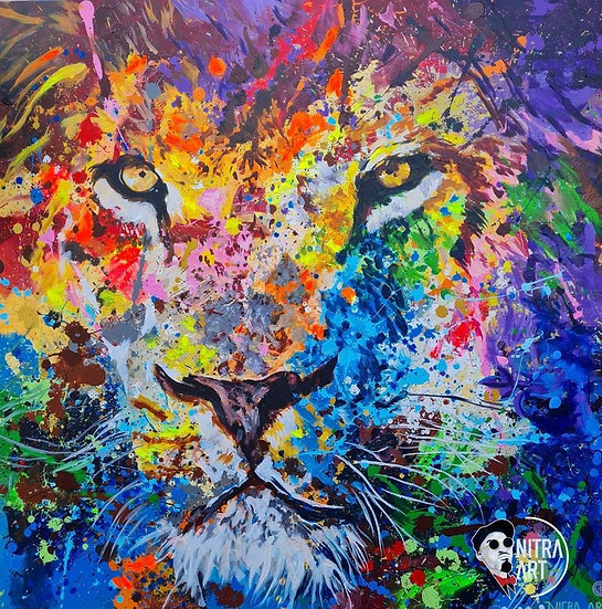 Lion Limited Print 1/10 By Nitra-Art - 87 x 87