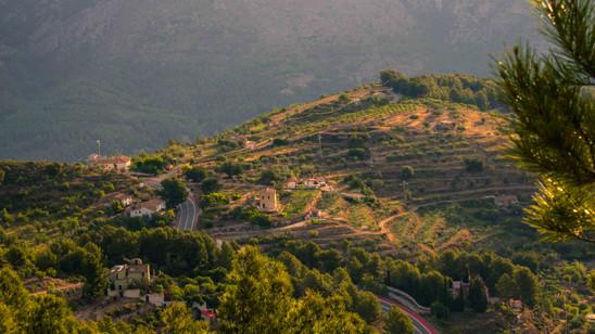 Alicante road to La Nucia