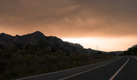 Alicante Straße Road Gewitter