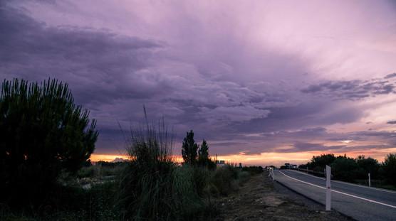 Street in Alicante at sundown