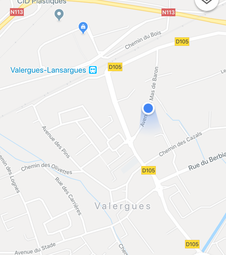 Mein Rastplatz in Valergues