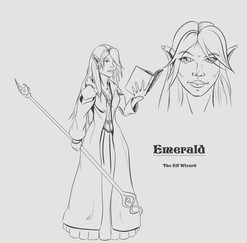 Emerald, The Elf Wizard