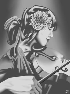 Violinist Painting