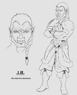 J.B. The Half Orc Barbarien