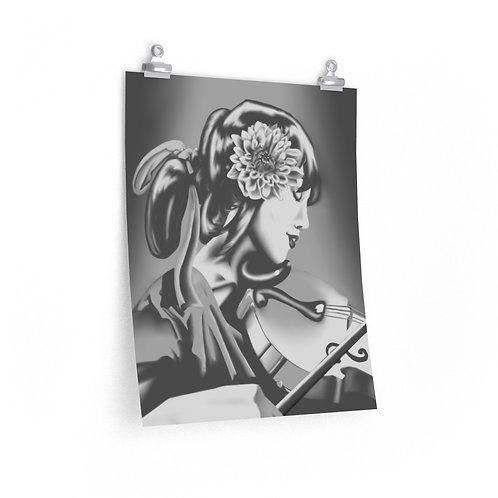 """Violinist"" Poster, Original by Mu"
