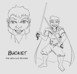 Bucket, The Halfling Ranger