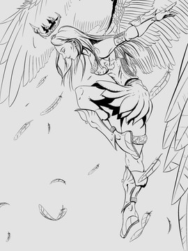 Black and White Angel