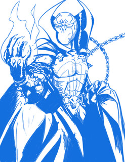 Spawn Commission Rough Draft
