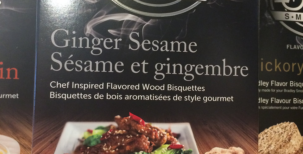 PREMIUM Bradley Smoker Bisquettes ginger sesame flavor 24p
