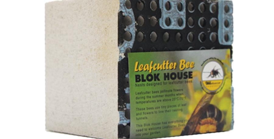 Leaf cutter nesting block