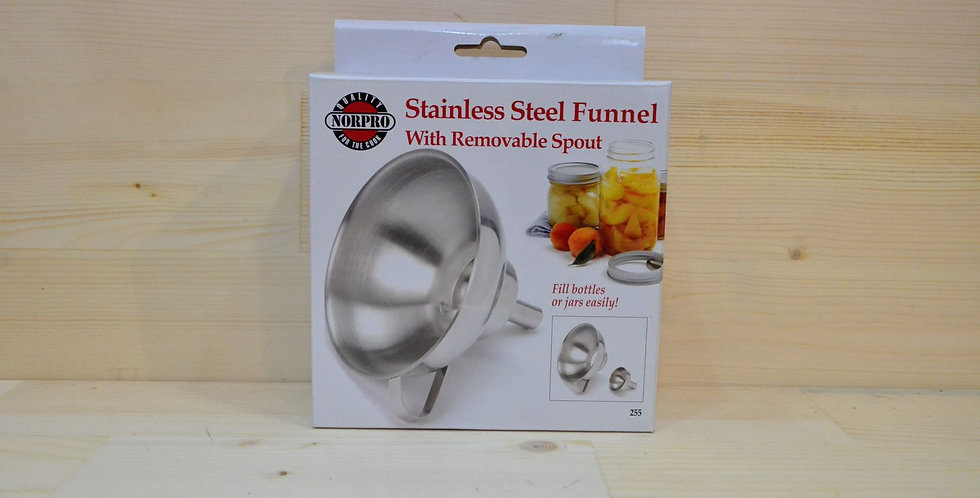 NorPro Stainless Steel Funnel (with removable spout)