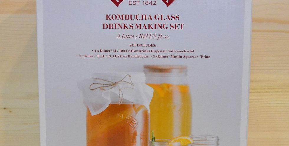 KILNER Kombucha Glass Drinks Making Set