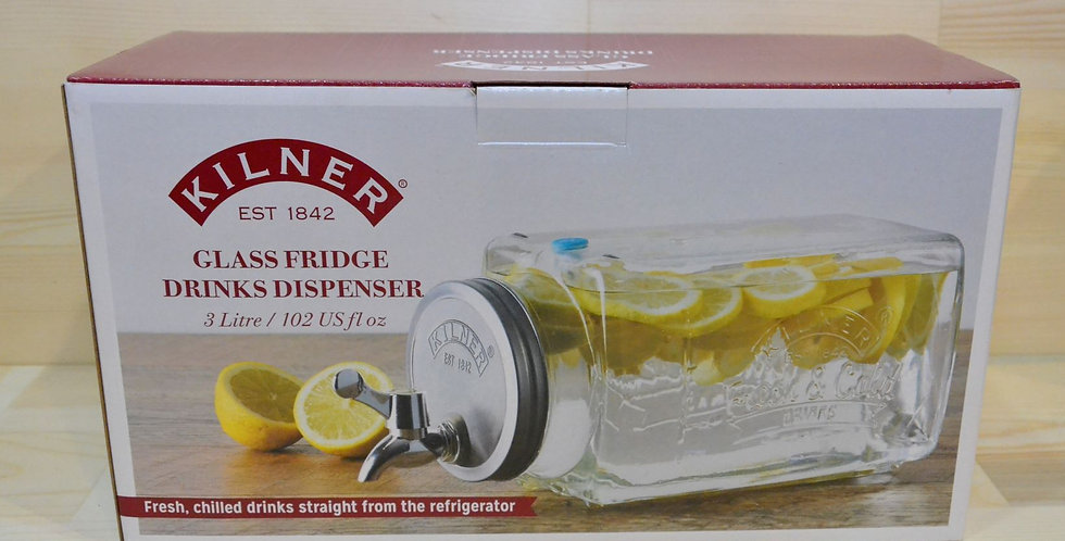 KILNER Glass Fridge Drinks Dispenser