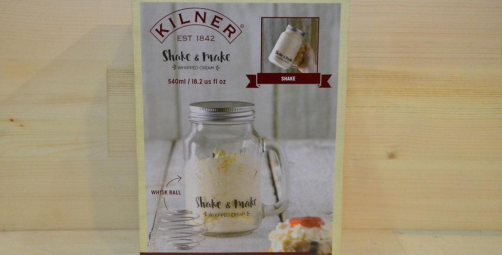 KILNER Shake And Make Whipped Cream Maker