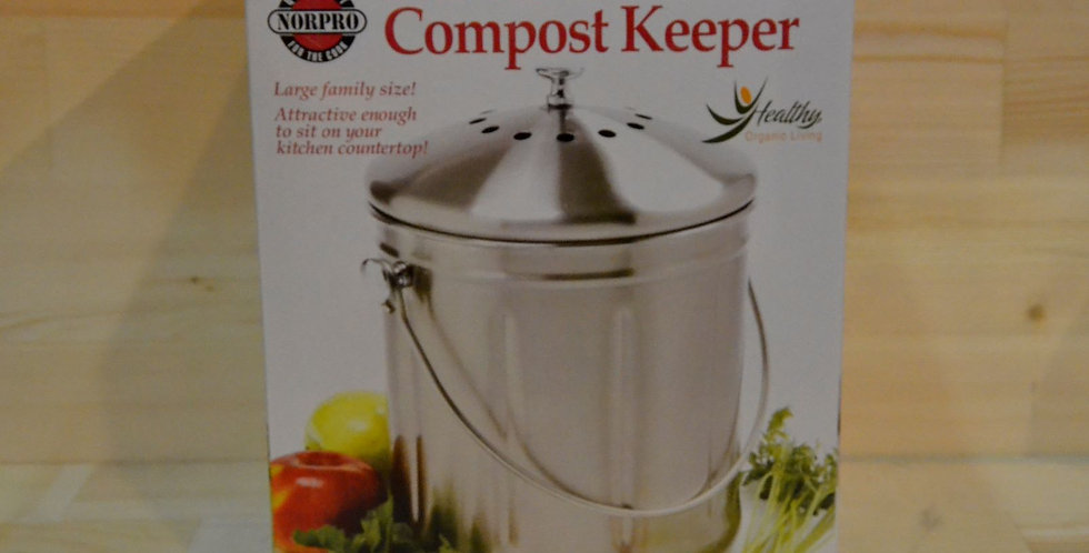 NorPro 1.5 Gallon Stainless Steel Compost Keeper