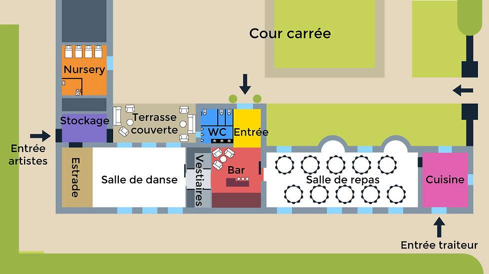 Plan des salles de réception - Chai