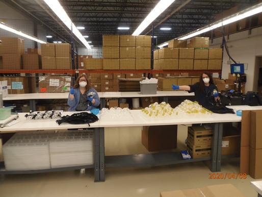 Local company provides ventilators, masks to hospitals