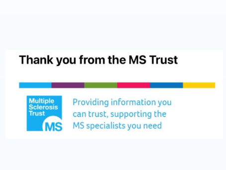 Donated to MS Trust