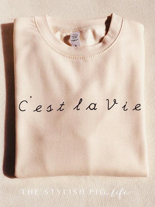 C'est La Vie Vanilla Sweatshirt