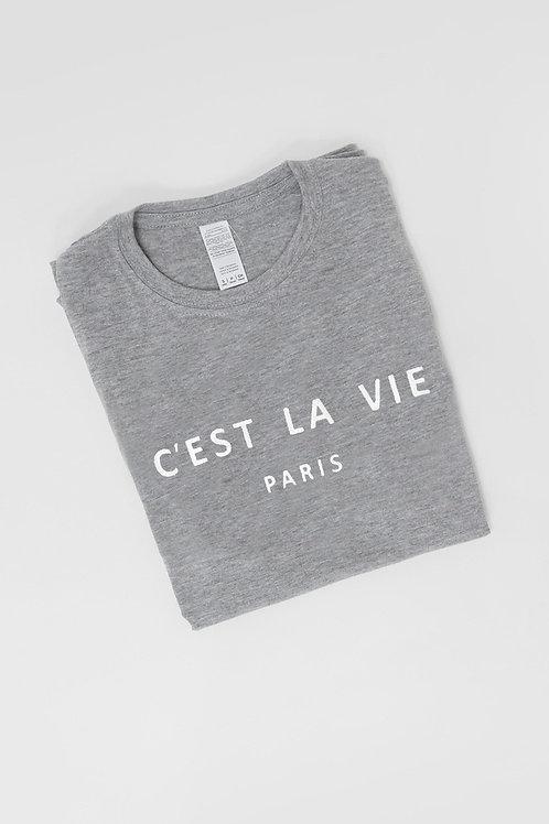 C'est La Vie grey Tee