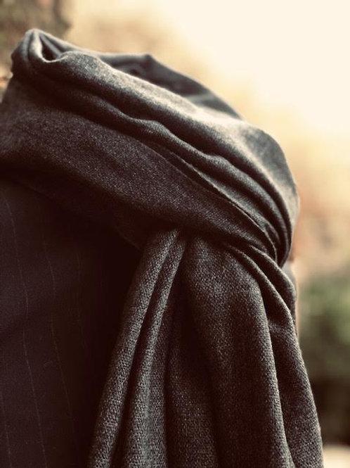 Charcoal cashmere wrap