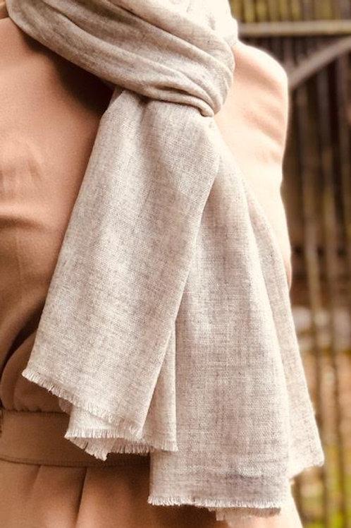 Light Coffee cashmere wrap
