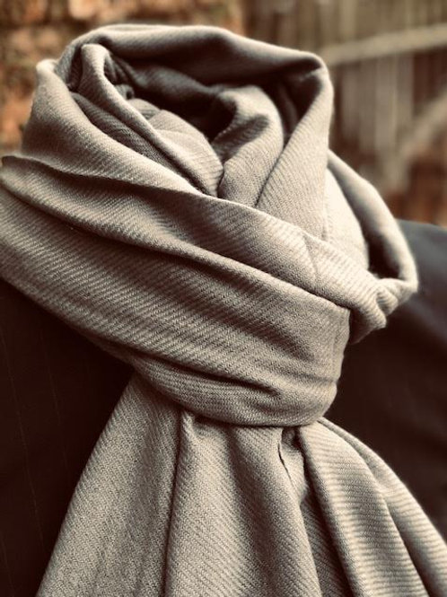 Elephant Grey cashmere wrap