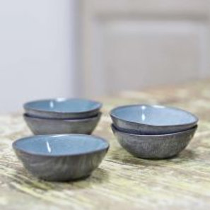 Capri dipping bowls in grey