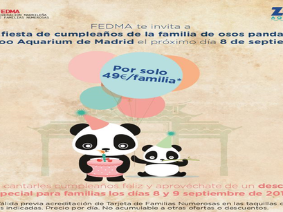 CUMPLEAÑOS DE LA FAMILIA DE OSOS PANDA EN EL ZOO AQUARIUM