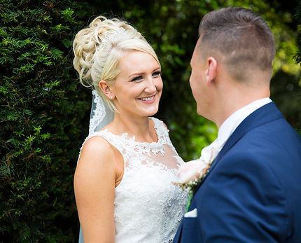 bride and groom at batch country house