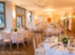 winter wedding setup coombe lodge