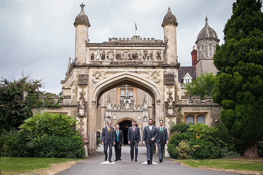 Groom party tortworth court