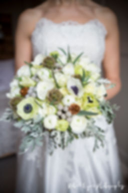 bouquet, bride, close up, wedding dress