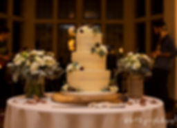 wedding cake looks superb with flash lighting at coombe lodge