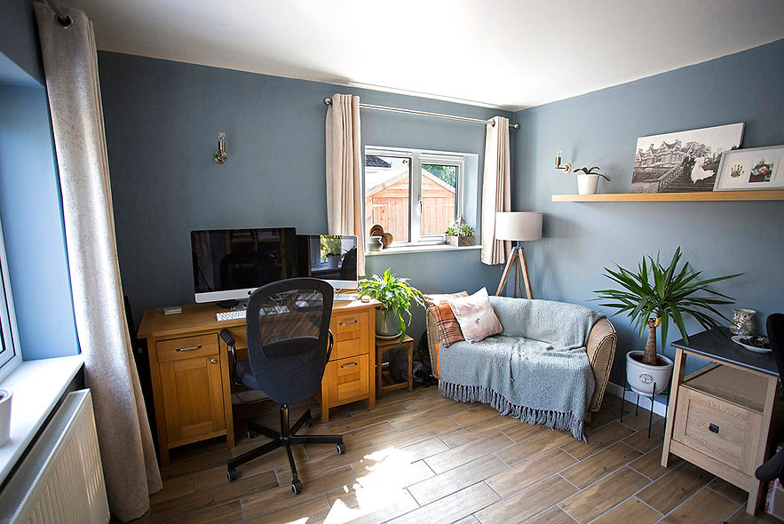 property photographer somerset, office in denim blue