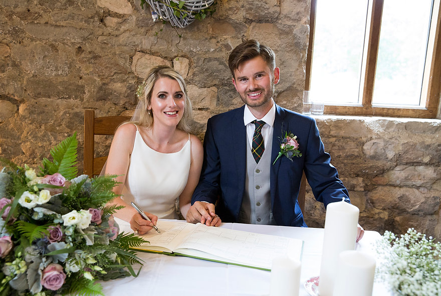 signing the registry, avoncliff wedding, Bradford-on-Avon wedding photographer