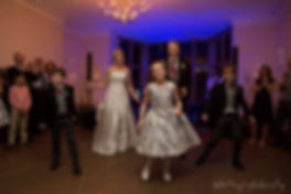 family first dance at wedding, happy family wedding, group first dance