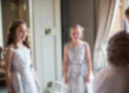 flower girls ready for wedding