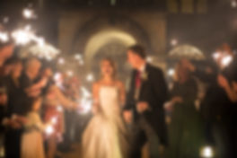 stunning sparkler shot bride and groom coombe lodge, night wedding shot