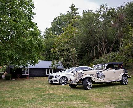 wedding cars ready to go to Bradford-on-Avon