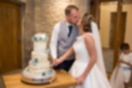cutting of the cake and kiss