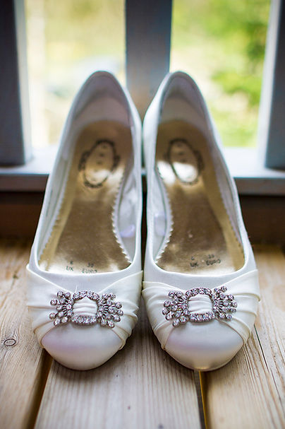 Brides shoes at www.millmeadow.co.uk