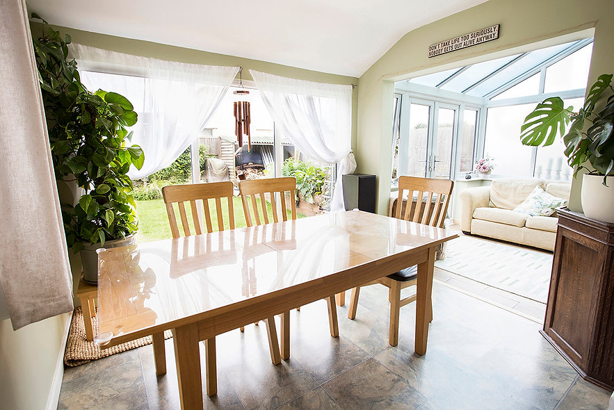 bristol property photographer, property photographer bristol, dining room and conservatory