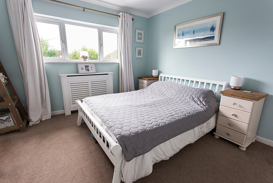 property photographer bath and wiltshire, bedroom duck egg blue