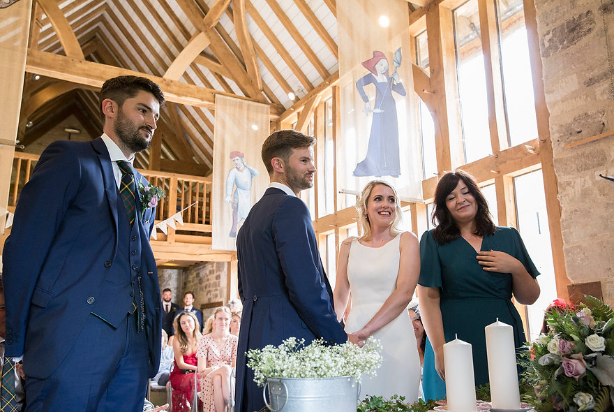 Bradford-on-Avon wedding ceremony, bride and groom, getting married