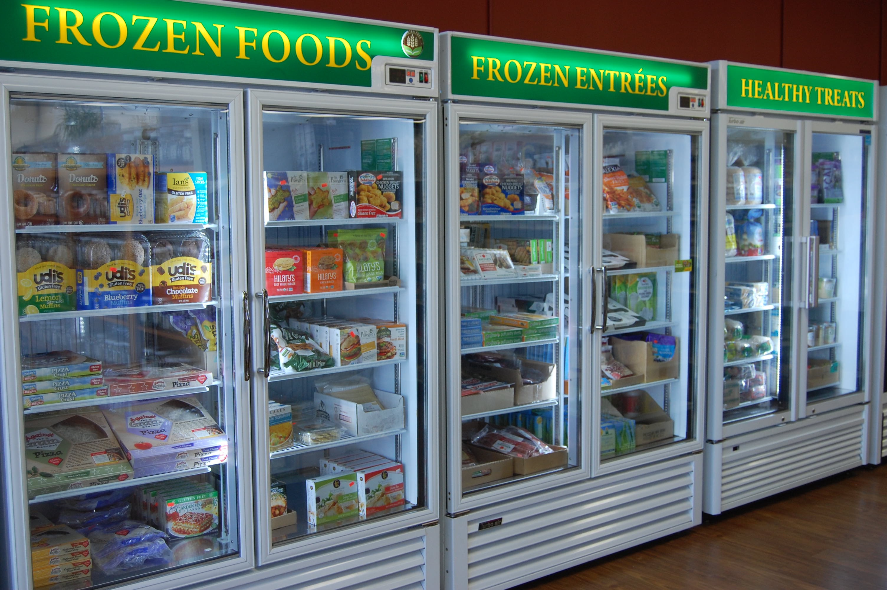 Two freezers of gluten free food!