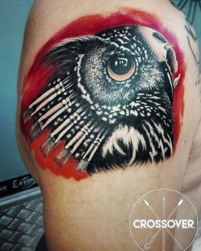 #custom #Owl #tattoo