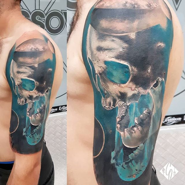 Massive cover up!! The skull is Healed t