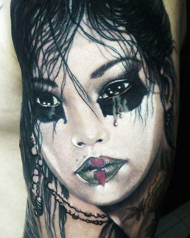 #LuisRoyo #Deadmoon #tattoo #arm #realis